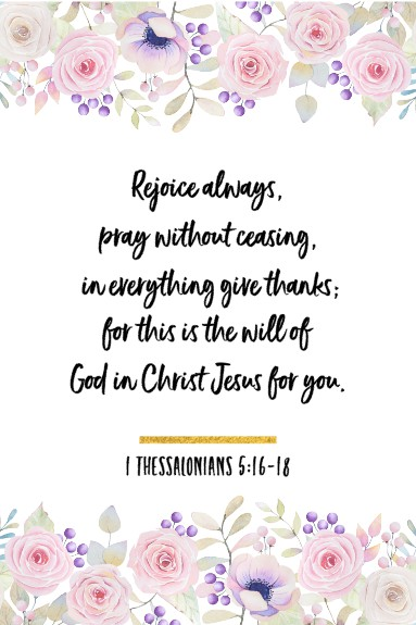 1 thessalonians 5.16-17 Scripture Card