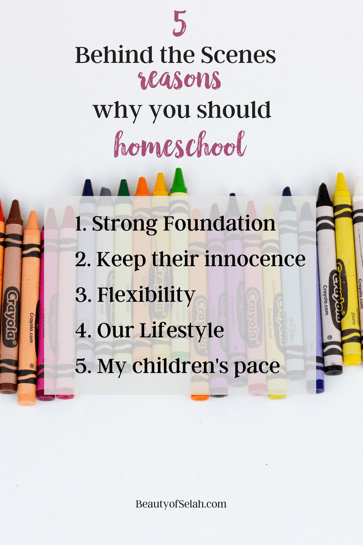 5 Behind the Scenes reasons why you should homeschool List