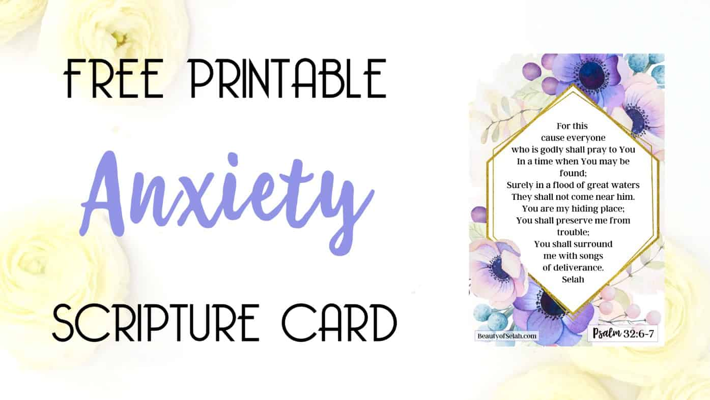 graphic relating to Free Printable Scripture Cards called Cost-free Printable Stress and anxiety Scripture Card BeautyofSelah