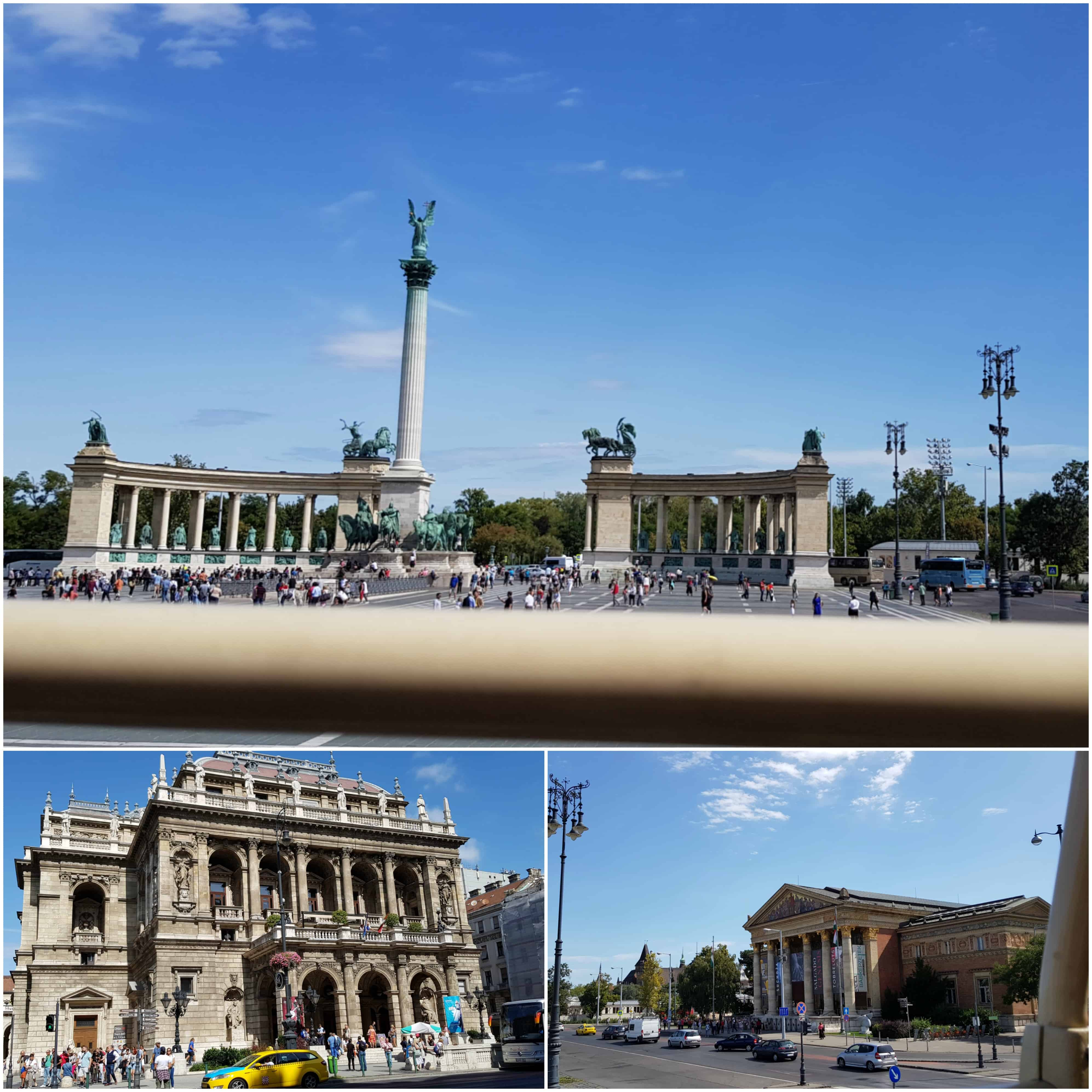 Budapest sites opera house and hero's square