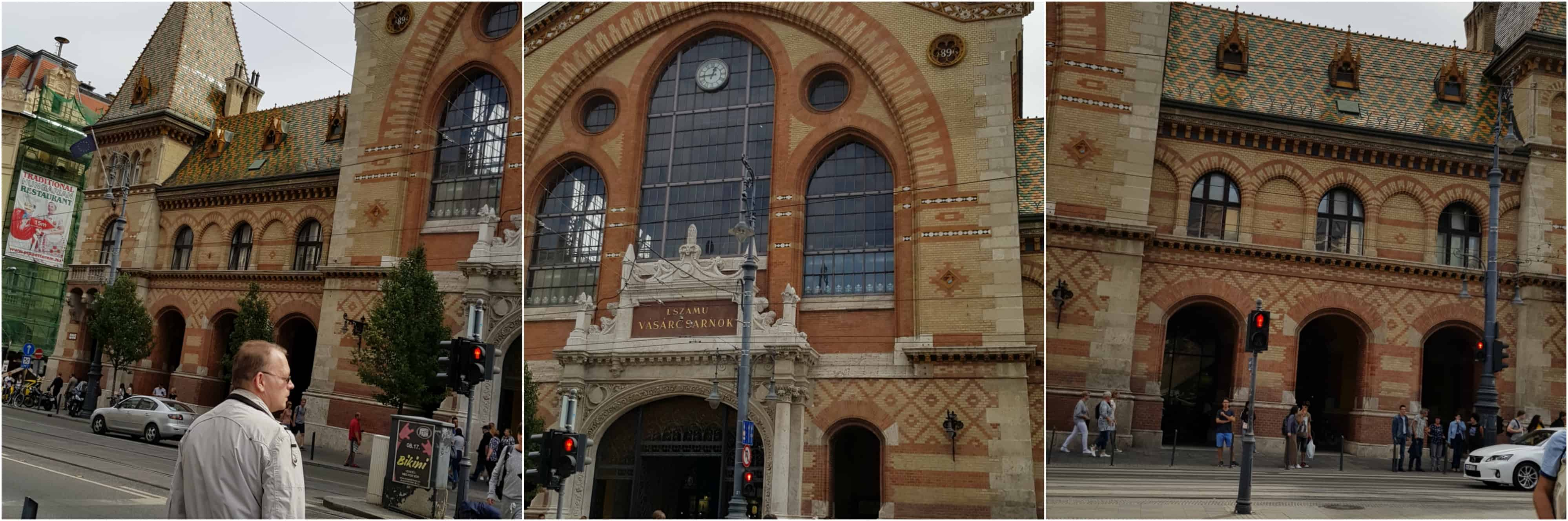Budapest Great Market Hall Outside of Building